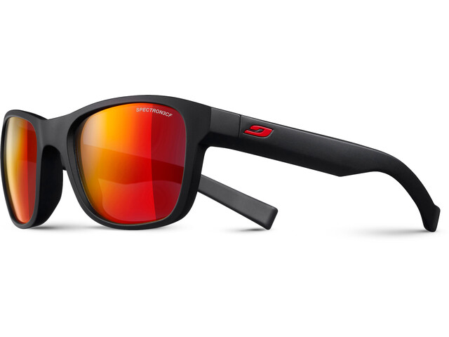 Julbo Reach L Spectron 3CF Sunglasses 10-15Y Kinder matt black-multilayer red